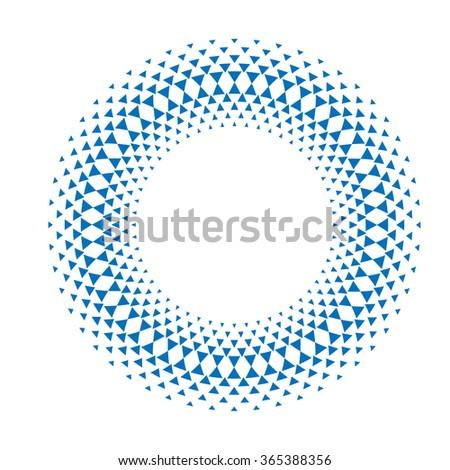 Concentric Circles . Technology Circles . Triangles in Circles Form . Vector Circles . Round Circles . Logos Circles .  Stylish Circle . Circle Icons . Shape Circle . Blue Vector Circle Elements . - stock vector