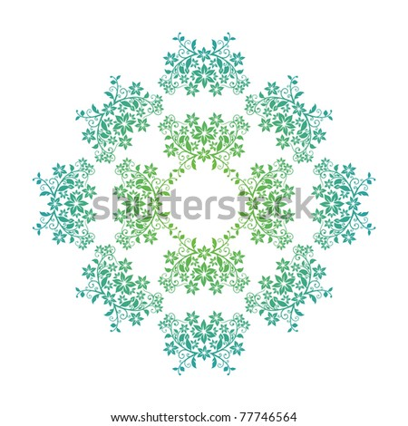 concentric floral pattern with space for your text - stock vector