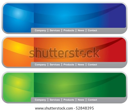 Concept and design web page header template - stock vector