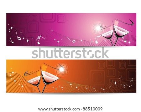Concept banner for new year - stock vector