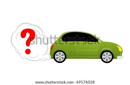 Concept car image - stock vector