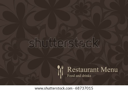Concept design restaurant menu on flowers background - stock vector