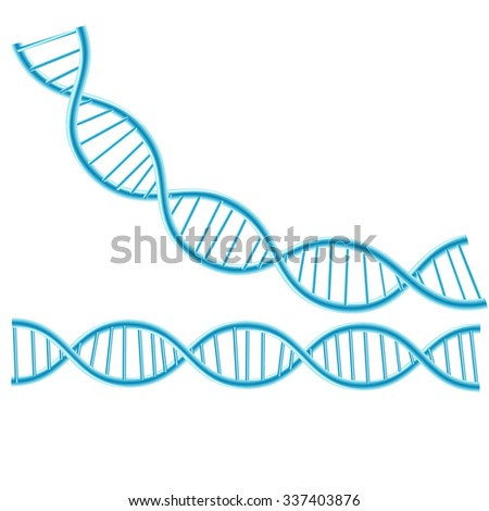 Concept Dna isolated background.vector