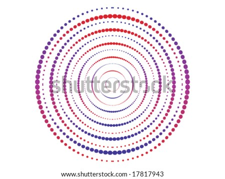 concept dots logo - stock vector