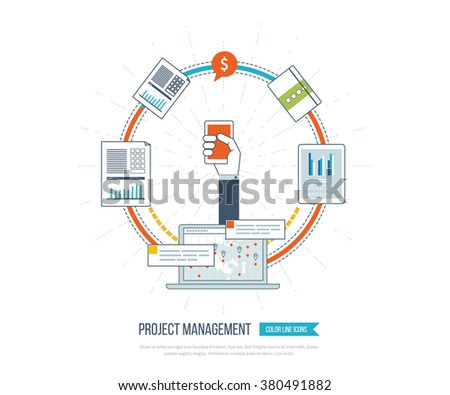 Concept Business Analysis Consulting Strategy Planning Project Management Stock Images