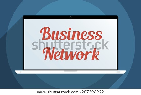 Concept for business network, e-commerce and globalization. Flat design illustration. - stock vector