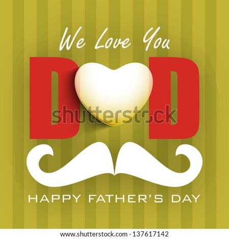 Conception Day by Day Concept For Happy Fathers Day