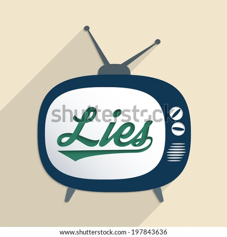 Concept for mass media, disinformation, propaganda and information security. Flat design illustration. - stock vector