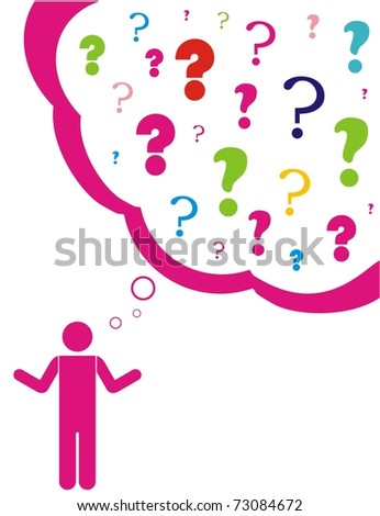 concept for question or confusion - stock vector