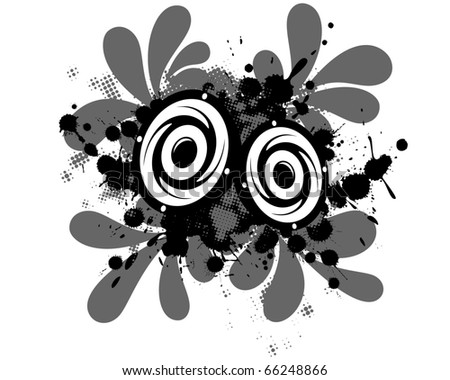 Concept grunge background for audio music black and white. - stock vector