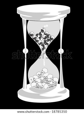 concept hourglass - stock vector