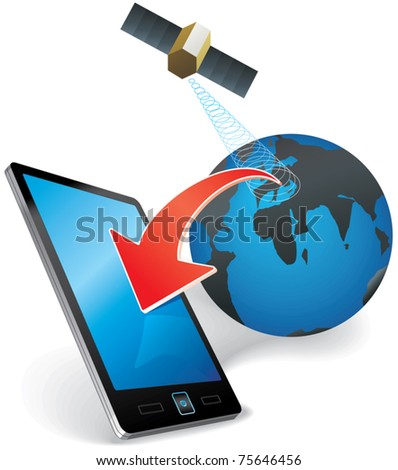 concept illustration of modern communication technology eps10 - stock vector