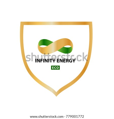 Vector Logo Energy Efficiency Diagram Growth Stock Vector