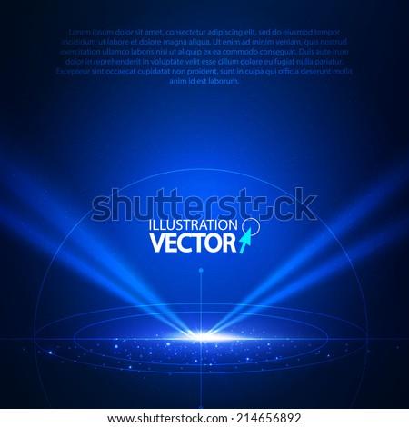 Concept light. Vector illustration - stock vector