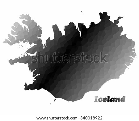 Concept map of Iceland, vector design Illustration.