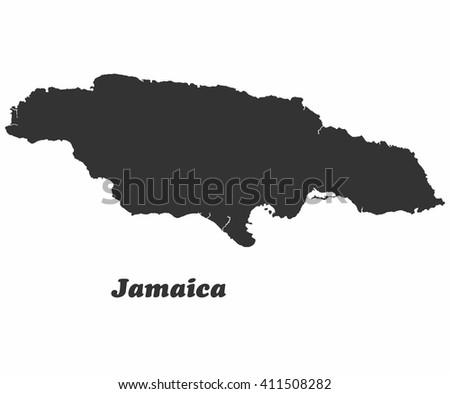 Concept map of Jamaica, vector design Illustration. - stock vector