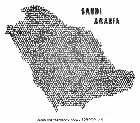 Concept map of Saudi Arabia, vector design Illustration.