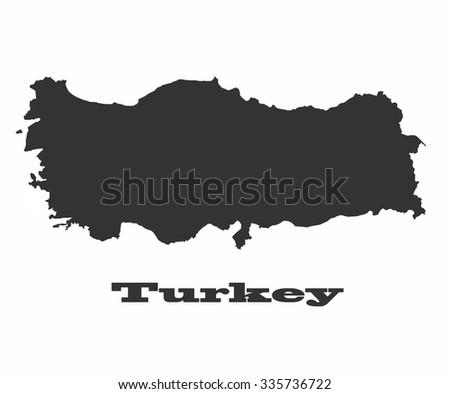 Concept map of Turkey, vector design Illustration. - stock vector