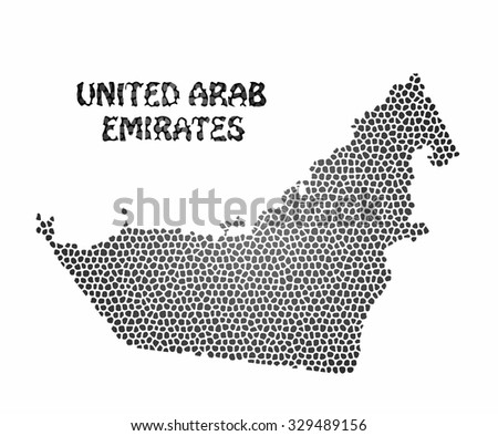 Concept map of United Arab Emirates, vector design Illustration.