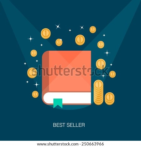 concept of a best selling book,vector illustration - stock vector