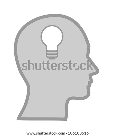 concept of a bright idea, invention, inspiration, mind, vector