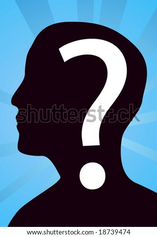 Concept of anonymity or cluelessness - stock vector