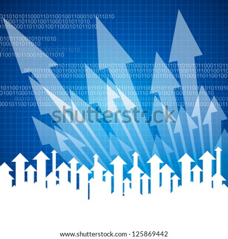 Concept of business movement, Arrows - stock vector