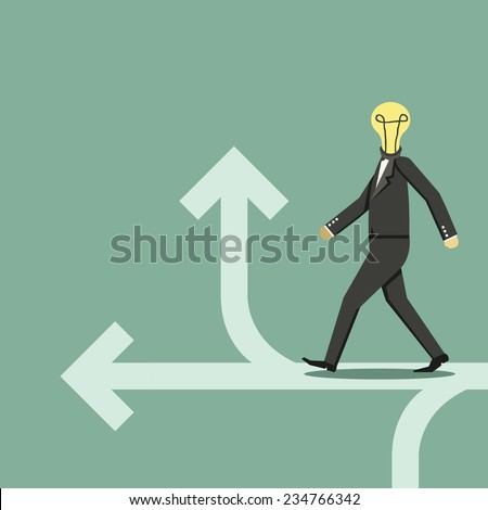 Concept of choose the correct way - stock vector