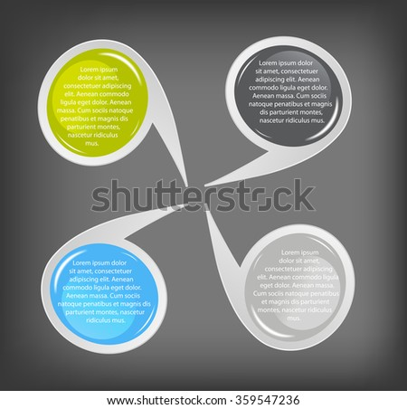 Concept of colorful circular banners  for different business design. Vector illustration - stock vector