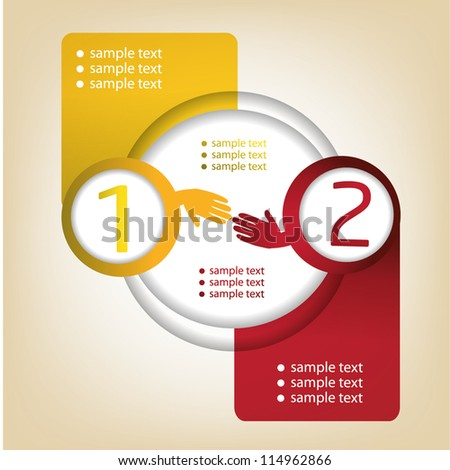 Concept of colorful hand shape - stock vector