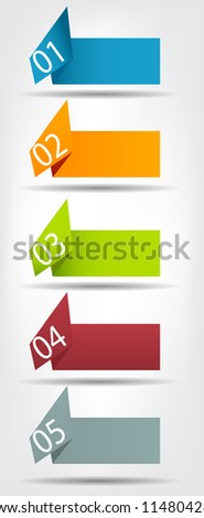 Concept of colorful origami  for different business design. Vector illustration