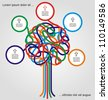 Concept of colorful tree for different business design. Vector illustration - stock photo