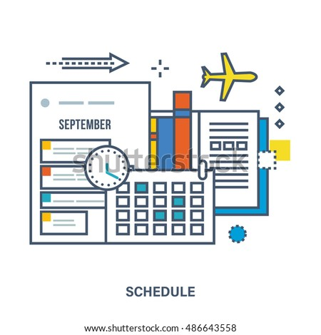 Concept Education Strategic Planning Schedule Planning Stock Vector