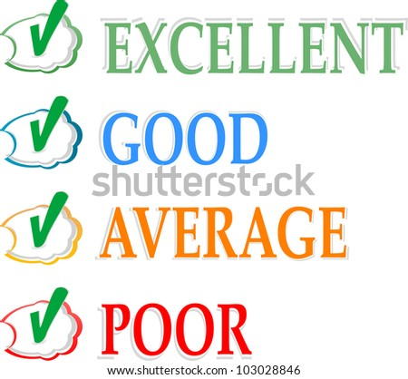 Concept of good credit score for business - stock vector