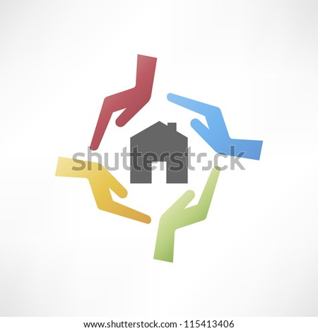 concept of safe house - stock vector