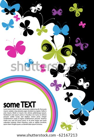 concept of text layout with butterflies