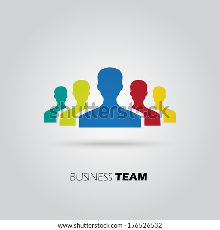 Concept of union, team, leadership, group, community. Vector illustration - stock vector