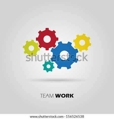 Concept of union, team, leadership, group, community. Vector illustration
