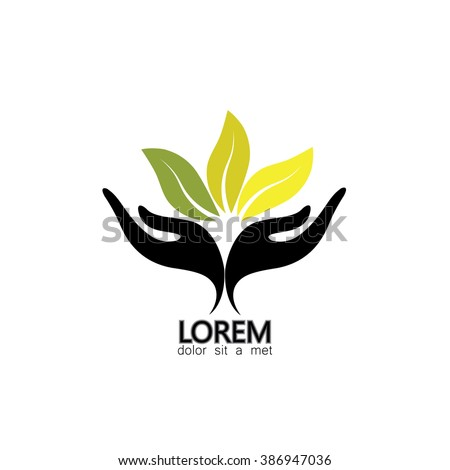 concept of wellness, protecting nature - vector graphic. also represents concepts like environment protection, spa resorts, etc - stock vector