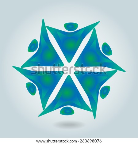 Concept of workers meeting, employee interaction- vector graphic. This illustration can also represent colorful kids playing together in circles or people diversity or workers unity, etc - stock vector