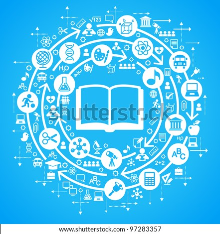concept on the topic of education - stock vector