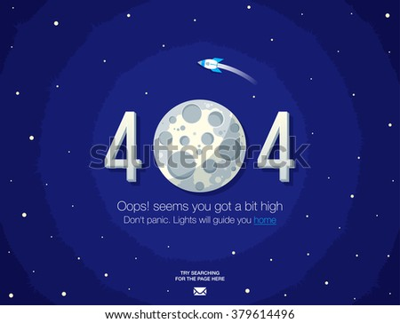 Concept page 404. Design 404 error. Illustration error page not found. A modern, linear design 404 page. Template reports that the page is not found. - stock vector