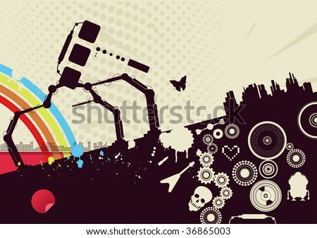 concept poster template - stock vector