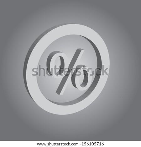 concept procent button. vector illustration design. - stock vector