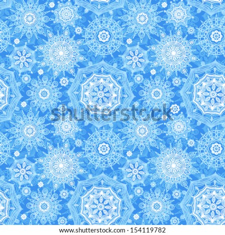Concept seamless pattern with snowflakes. Light winter background. It can be used for wallpaper, pattern fills, web page background, surface textures. - stock vector