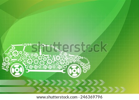 concept, symbolizing the car as a mechanism - stock vector