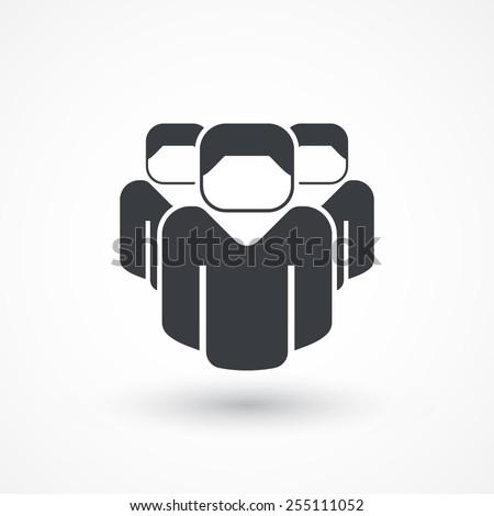 Concept team, union, leadership, group, community. Vector illustration - stock vector