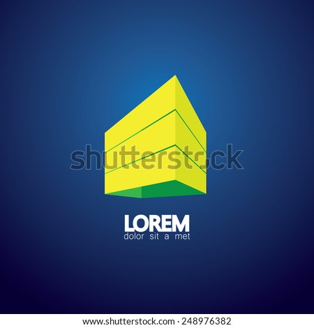 concept vector icon modern architecture or office establishments. This also represents city downtown buildings, highrise structures, commercial constructions, real estate projects, tall towers - stock vector