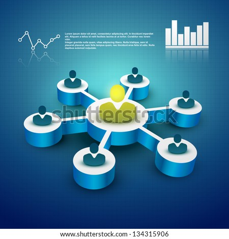 concept vector of teamwork illustration - stock vector