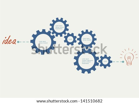 Concept vector with abstract gear wheels. Variation -1 - stock vector